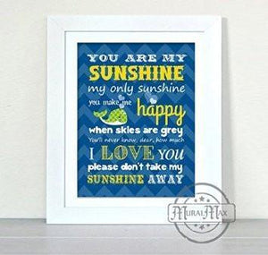 You Are My Sunshine Collection - Unframed Print-B018KOE0M6-MuralMax Interiors