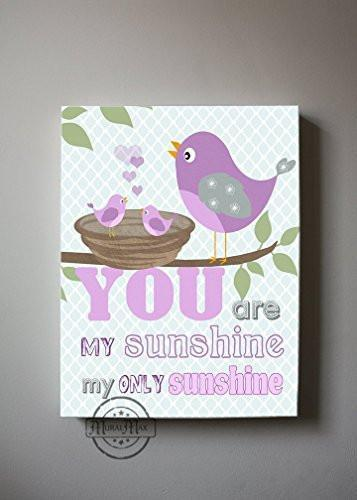 You are My Sunshine Theme - Canvas Nursery Decor-B018ISG2O8-MuralMax Interiors