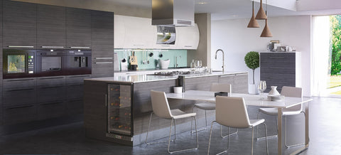 Grey Oak and white contemporary kitchen - Kitchen Design Blog