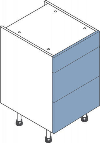 500mm 3 Drawer Base Cabinet - Click Box