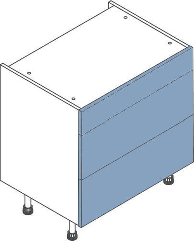 800 mm 3 Drawer Kitchen Base Unit - Soft Close