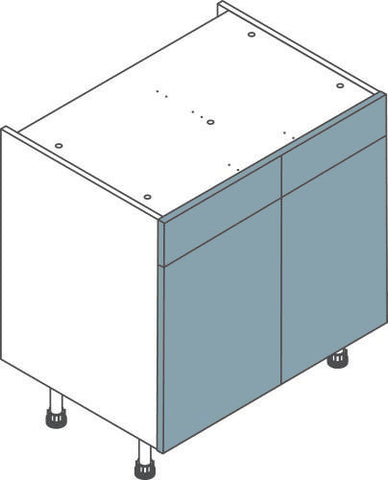 900mm Double Drawerline Flatpack Kitchen Unit - Just Click Kitchens
