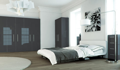 Metallic Anthracite High Gloss Acrylic Wardrobe Doors - Just Click Kitchens