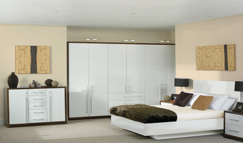 Venice High Gloss Slab Wardrobe Doors - Choose from 3 Colours - Just Click Kitchens