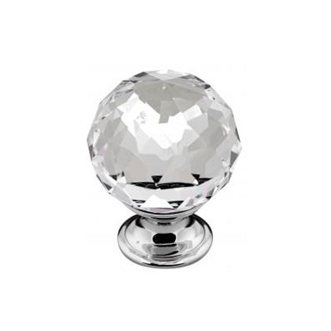 Glass Crystal and Chrome Kitchen Door Knobs - Just Click Kitchens