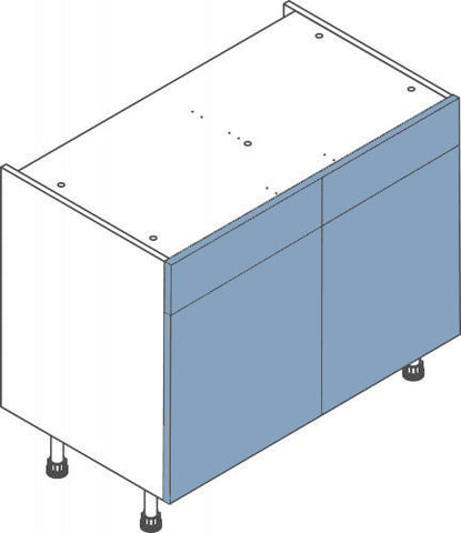 1000mm Double Drawerline Flatpack Kitchen Unit - Just Click Kitchens