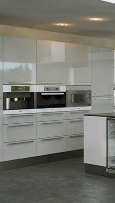 Firbeck Supergloss Light Grey High Gloss Kitchen Doors