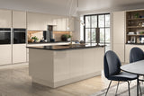 Firbeck Supergloss Cashmere High Gloss Kitchen Doors - Just Click Kitchens