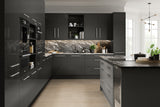 Firbeck Supergloss Graphite High Gloss Kitchen Doors & Drawers - Just Click Kitchens