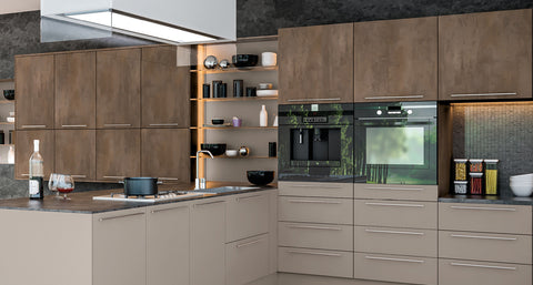 Valore Matt Grey Brown Metallo Kitchen Doors Drawers Just Click - Matt grey kitchen cupboards