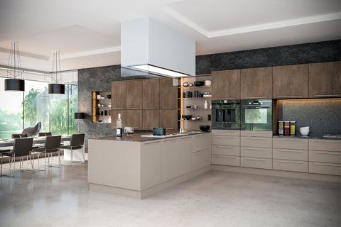 Valore Matt Grey Brown Metallo Kitchen Doors Drawers Just Click - Matt grey kitchen doors