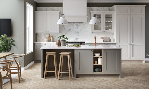Hadley Porcelain Painted Wood Kitchen Doors & Drawers - Just Click Kitchens