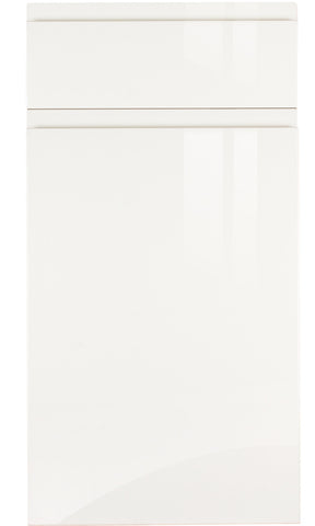Handleless White High Gloss Kitchen Doors - Just Click Kitchens