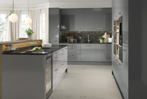 New Firbeck Supergloss Dust Grey Kitchen Doors Drawer Fronts Just Click Kitchens