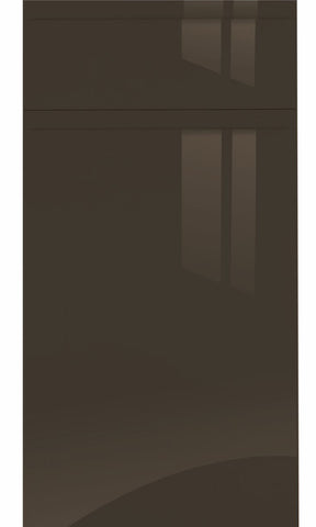 Jayline Handleless Graphite High Gloss Kitchen Doors & Drawer Fronts