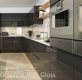 Jayline Graphite High Gloss Kitchen Accessories - End Panels, Plinths and Cornice