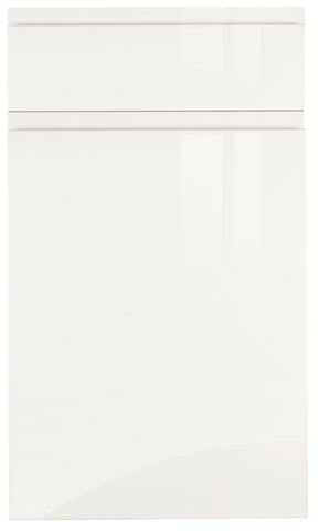 Jayline Handleless White High Gloss Kitchen Doors & Drawer Fronts - Just Click Kitchens