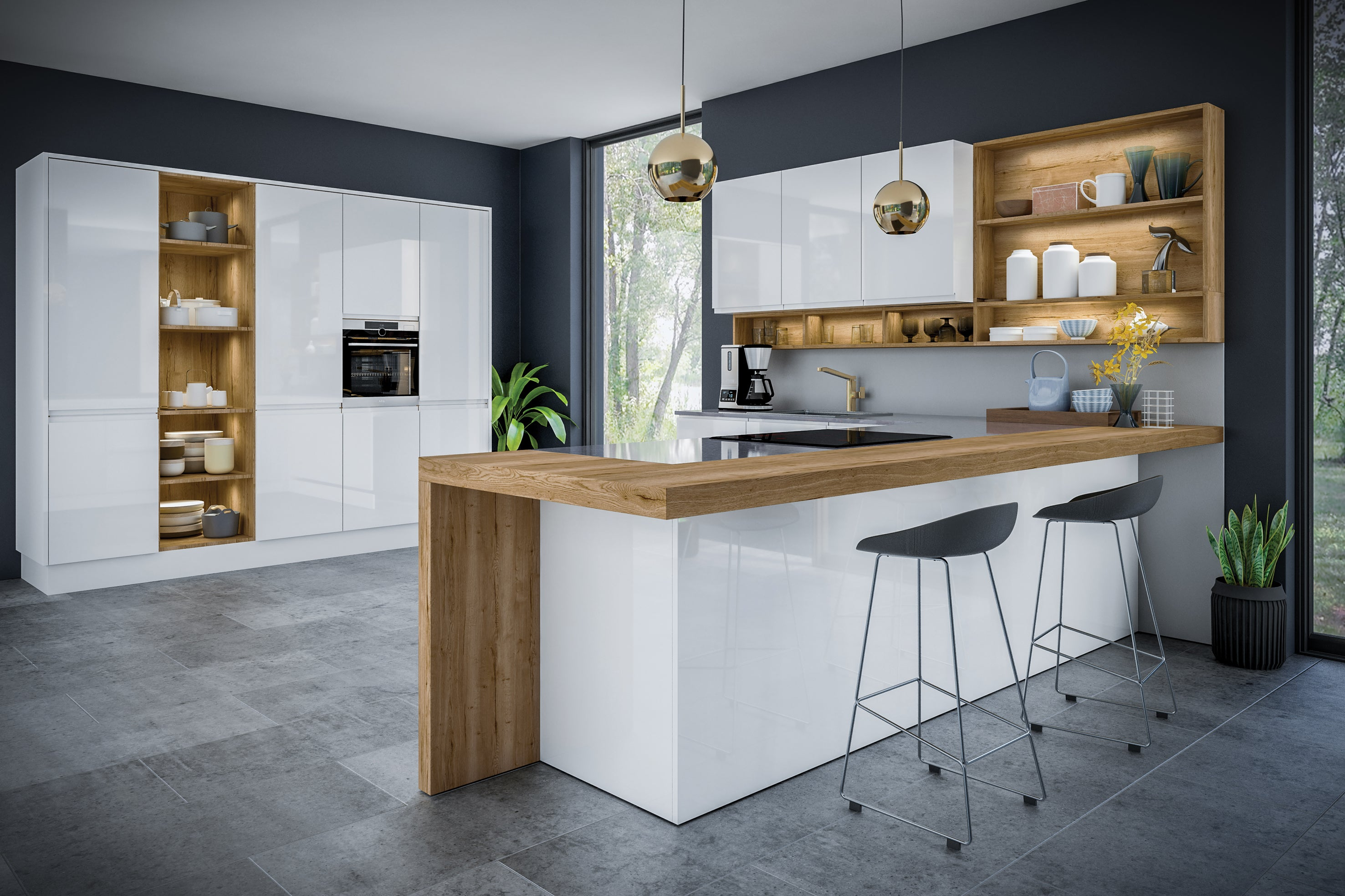 Jayline Handleless High Gloss Kitchen Accessories - Numerous Colours - Just Click Kitchens