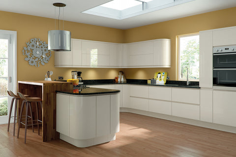 Handleless High Gloss Kitchen Accessories - Just Click Kitchens