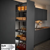 Peka Libell 400mm W Soft Close Larder Pullout - 1600mm-2000mm H - Just Click Kitchens