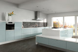 Zurfiz Metallic Blue High Gloss Acrylic Kitchen Doors - Just Click Kitchens