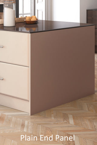 Bella Vinyl Paintable Kitchen End Panels - Just Click Kitchens