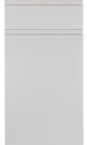 Rothwell Light Grey Matt Handleless Kitchen Doors - Just Click Kitchens