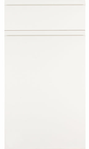 Rothwell White Matt Handleless Kitchen Doors - Just Click Kitchens