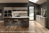 Serica Matt Taupe Acrylic Kitchen Doors & Drawers