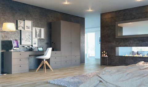 Ultra Matt Metallic Basalt Acrylic Wardrobe Doors - Just Click Kitchens