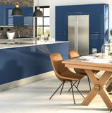 Zurfiz Ultragloss Baltic Blue High Gloss Acrylic Kitchen Doors - Just Click Kitchens