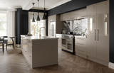 Zurfiz Stone Grey High Gloss Acrylic Kitchen Doors & Drawers