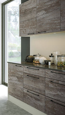 Driftwood Light Grey Acrylic Kitchen Doors Just Click Kitchens - Light grey kitchen units