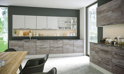 Driftwood Light Grey Acrylic Kitchen Doors Just Click
