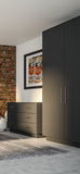Matt Graphite Grey Acrylic Wardrobe Doors & Drawer Fronts - Just Click Kitchens