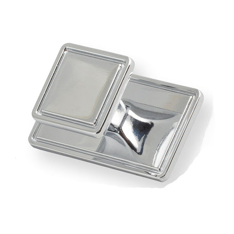 Chrome Art Deco Square Door Handle - Just Click Kitchens