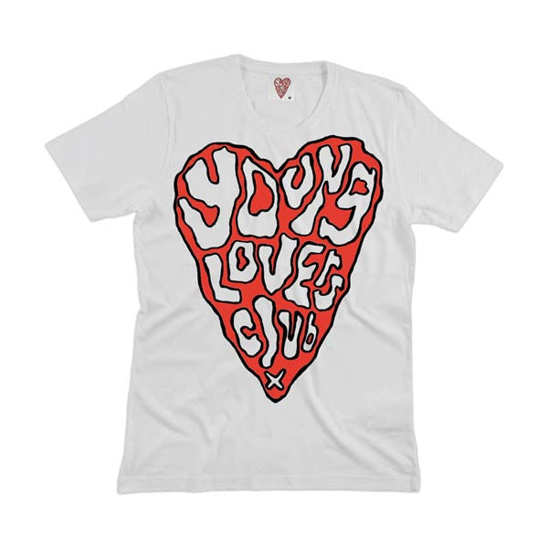 WHITE YOUNG LOVERS CLUB HEART T-SHIRT