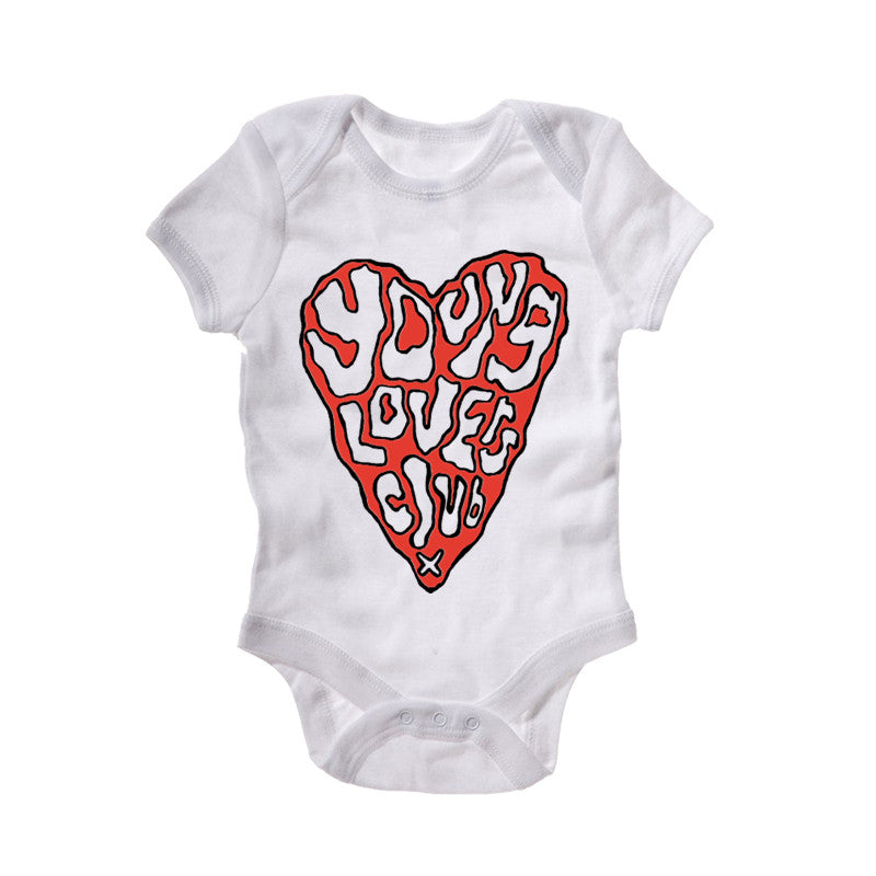 YOUNG LOVERS CLUB WHITE BABYGROW