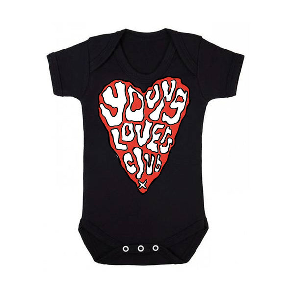 YOUNG LOVERS CLUB BLACK BABYGROW
