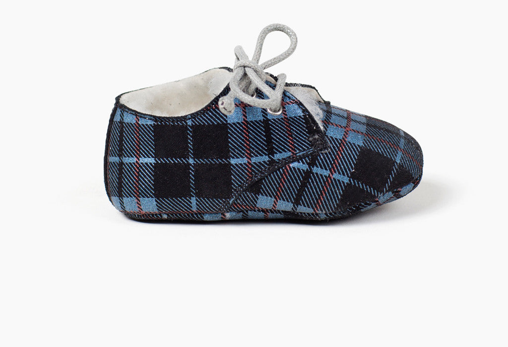 Tots Wooly Hobe Blue Plaid - 3