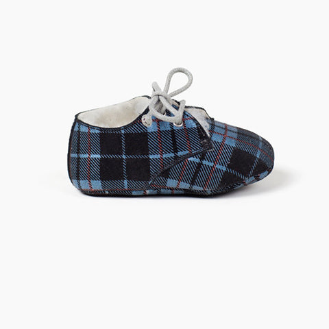 Tots Wooly Hobe Blue Plaid - 1