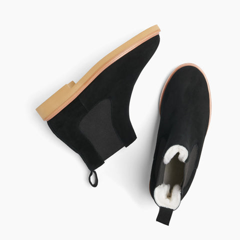 Women's Chelsea Boot Wool Black - Sample