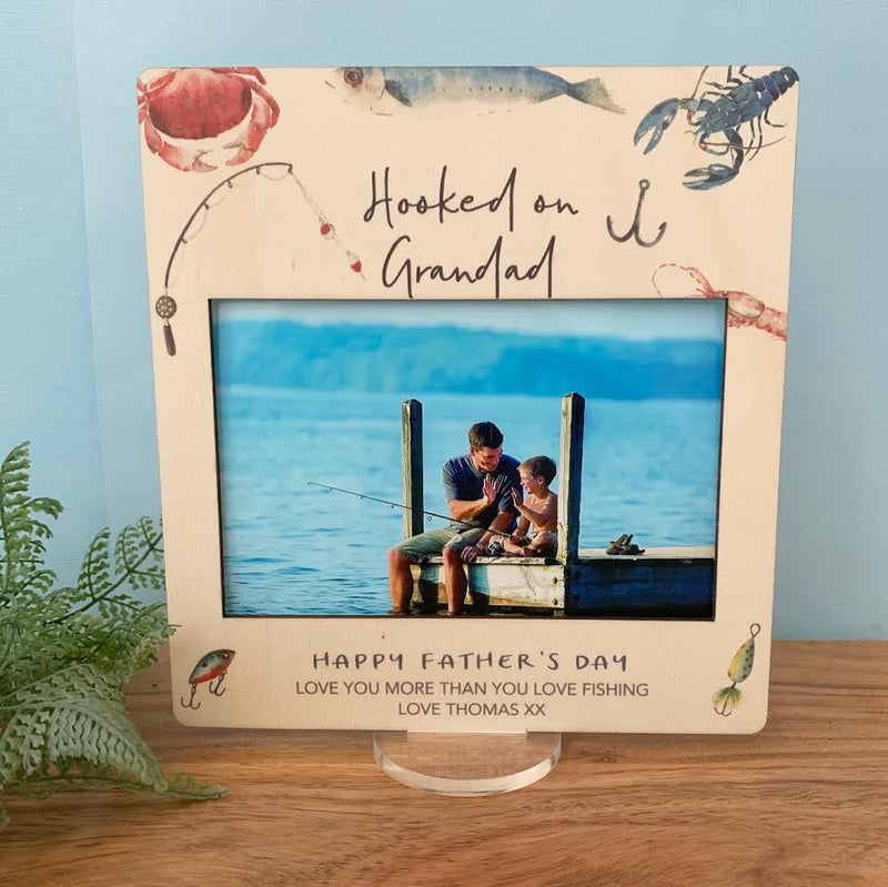 Fishing - Printed Father's Day Frame