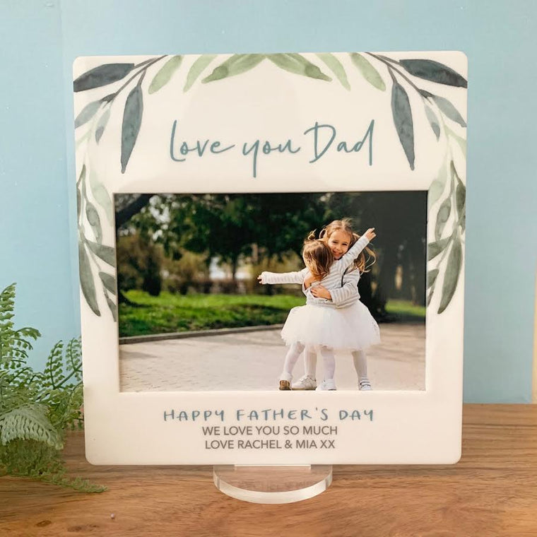 Green Leaf - Printed Father's Day Frame