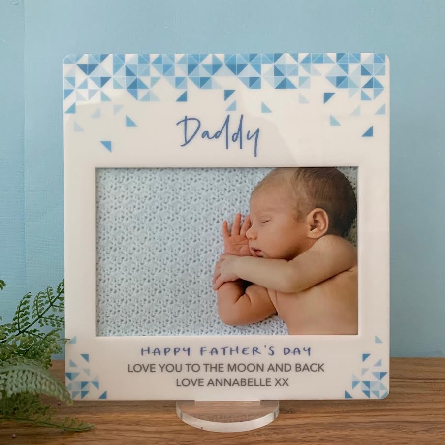 Blue Mosiac - Printed Father's Day Frame