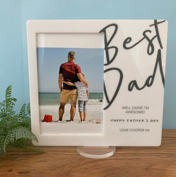 Best Dad - Printed Father's Day Frame