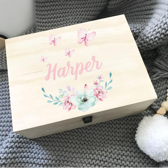Butterflies - Printed Memory Box