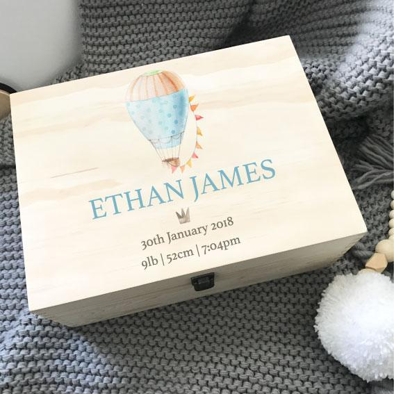 Hot Air Balloon - Printed Memory Box