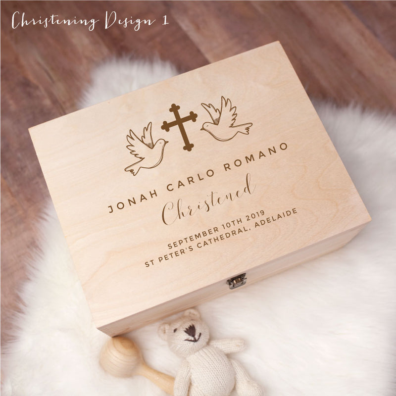 Memory Box - Christening Design 1