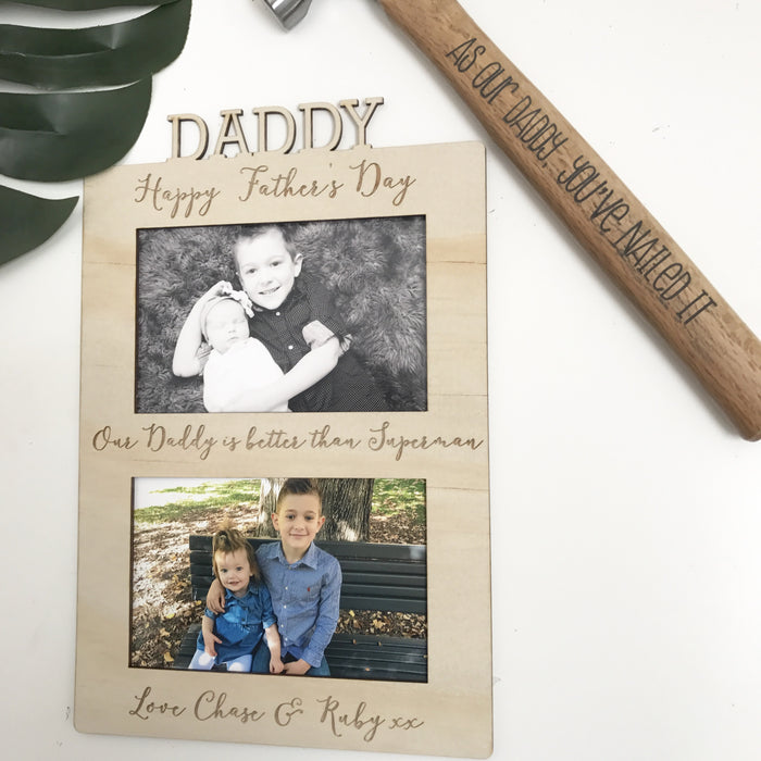 Father's Day Frame - Double